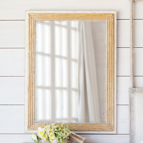 Eloquence® Marcel Panel Mirror in Toasted Almond Finish