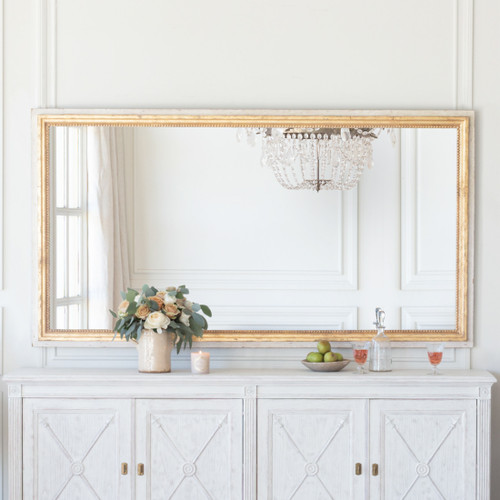 Eloquence® Grande Eugenie Panel Mirror in Toasted Almond and Gold Finish