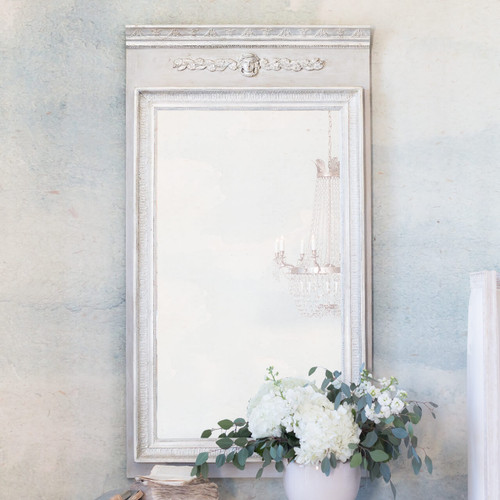 Eloquence® Empress Trumeau Mirror in Grain Sack and Silver Finish