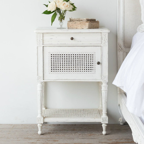 Eloquence® Giverny Antique Reproduction Nightstand in Antique White Finish