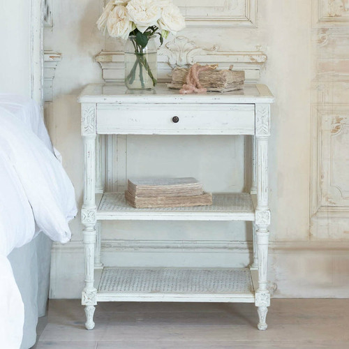 Eloquence® Napoleon Antique Reproduction Nightstand in Antique White Finish