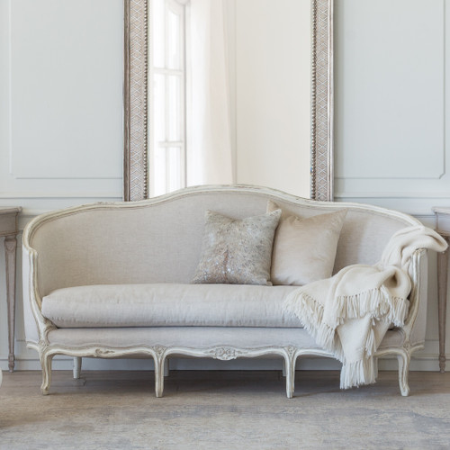 Eloquence® Seraphine Canape Sofa in Fog Linen and Gesso and Oyster Finish