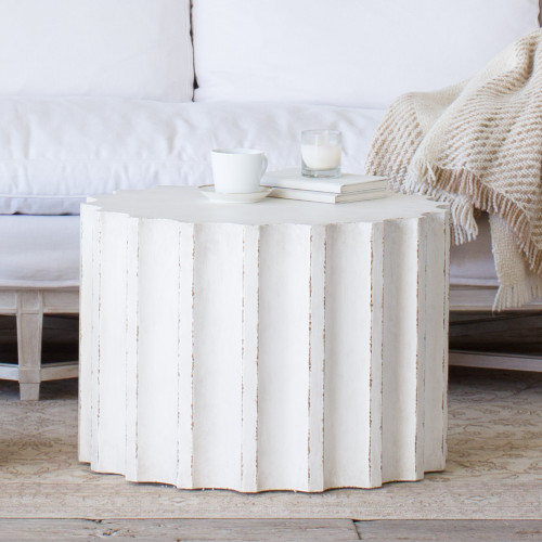 Eloquence® Medium Column Coffee Table in Plaster White Finish