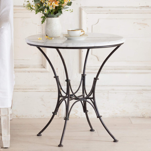 Eloquence® Parisian Side Table in Antique Steel Finish