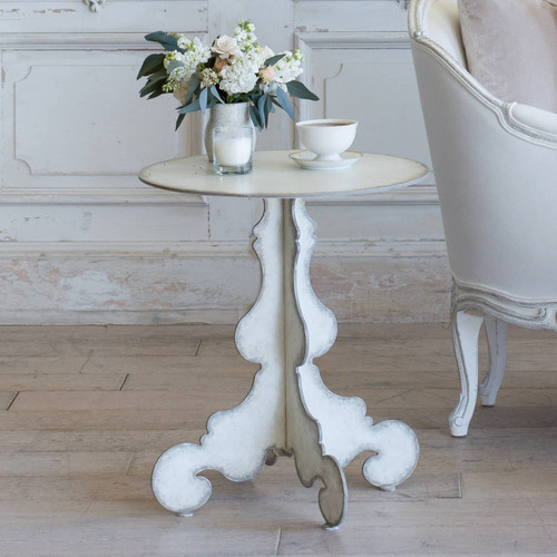 Eloquence® Tavolino Side Table in Fleur De Sel and Storm Edge Finish