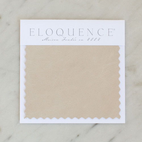 Eloquence® Upholstery Sample in Aged Beige Leather