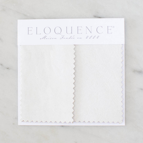 Eloquence® Upholstery Sample in White Leather