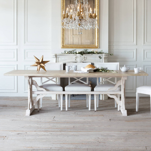 Eloquence® Grande Thoreau Dining Table in Danish White Finish