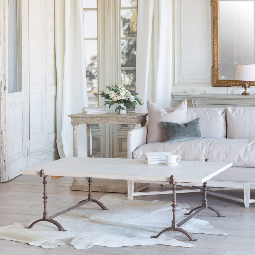 Eloquence® St. Remy Coffee Table in Pickled White Finish