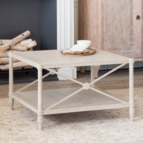Eloquence® Tresor Coffee Table in Rustic Wood Finish