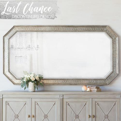 Eloquence® Grande Bijoux Mirror in Antique Silver Finish