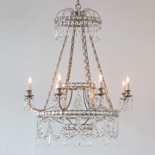 Eloquence® Astre Chandelier in Silver Finish Full View