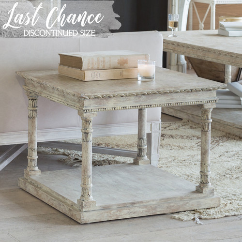 Eloquence® Gustav Square Side Table in Oak Driftwood Finish