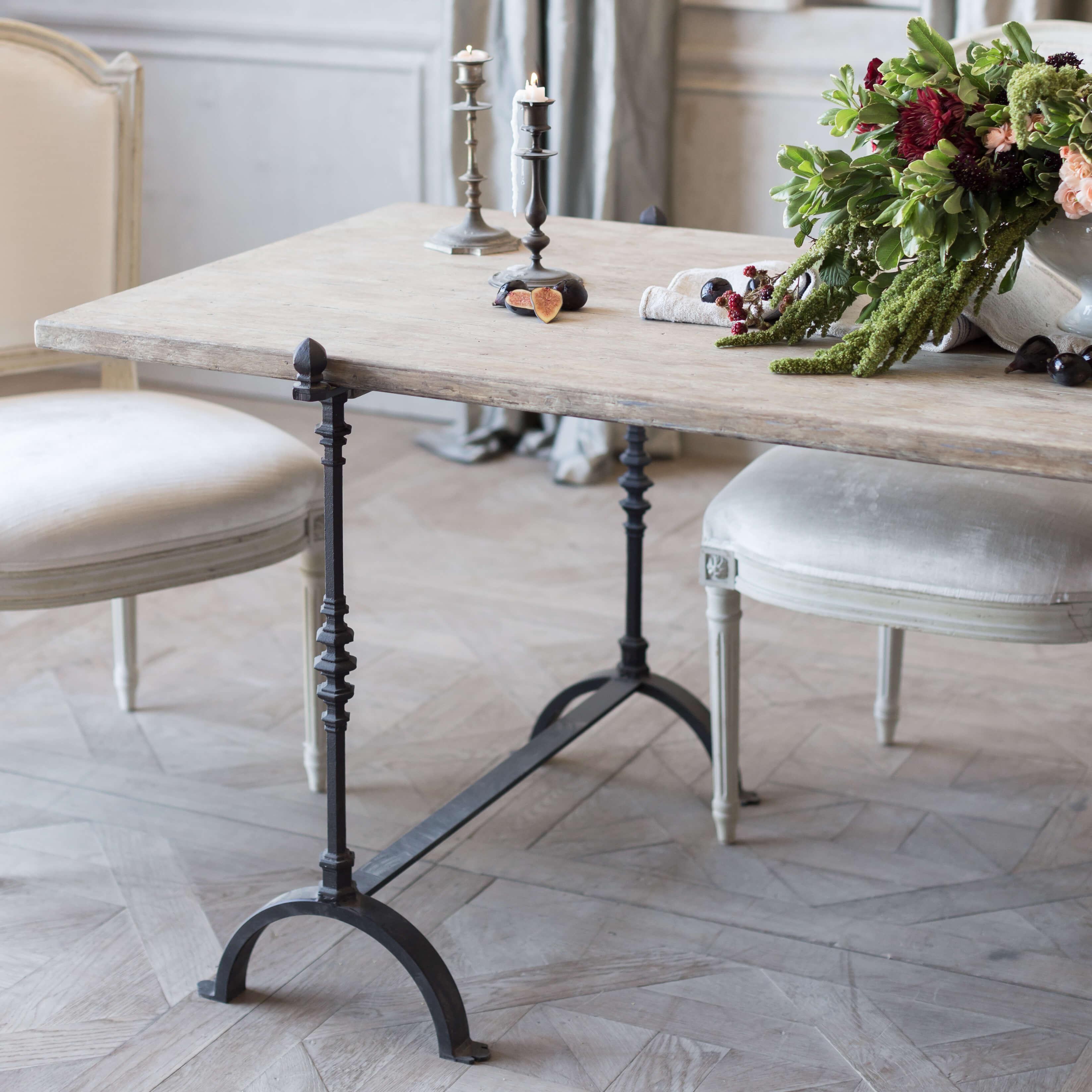 Magnificent Eloquence St Remy Trestle Table In Farmhouse Oak Finish Uwap Interior Chair Design Uwaporg