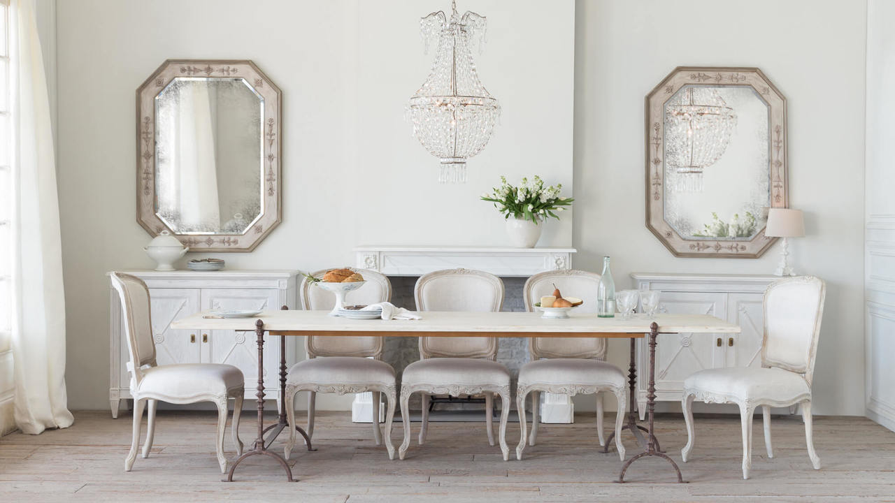 Eloquence® | Grande St. Remy Table in Pickled White Finish