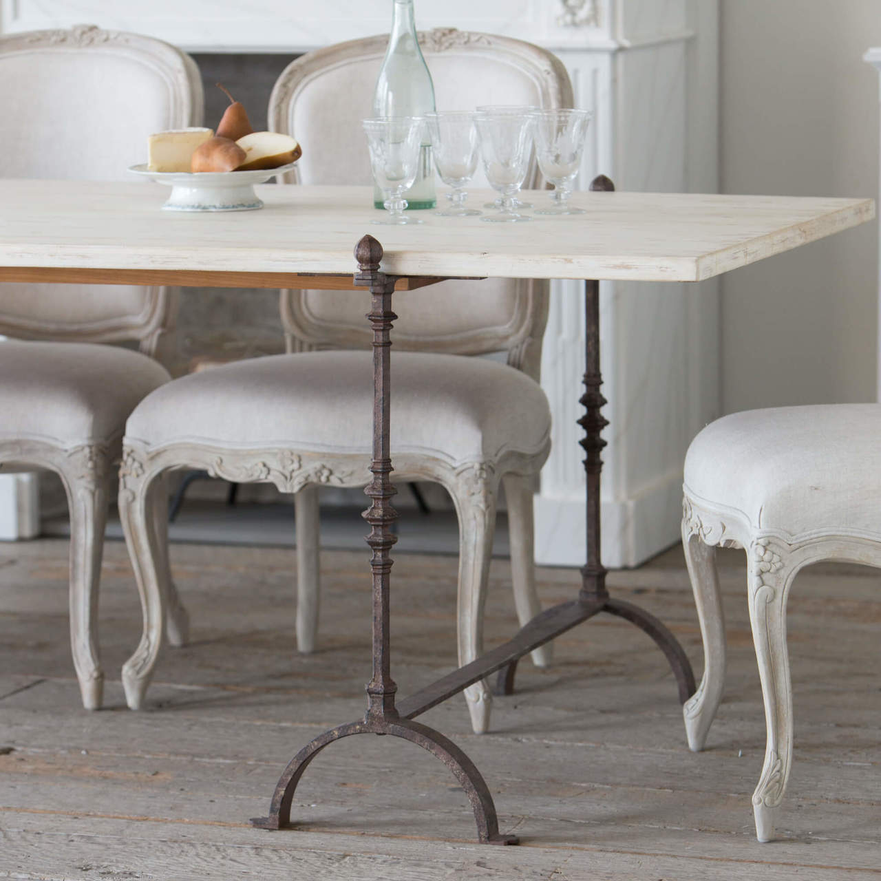 Eloquence® Grande St. Remy Table in Pickled White Finish