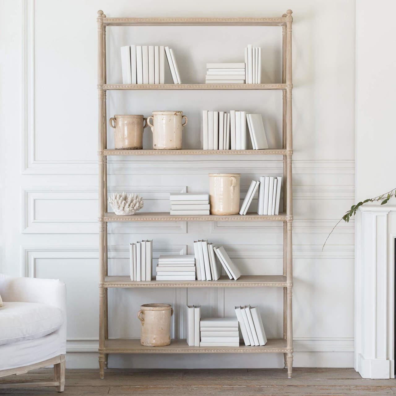 Tresor Bookshelf In Rustic Wood Refined Craftsmanship Eloquence
