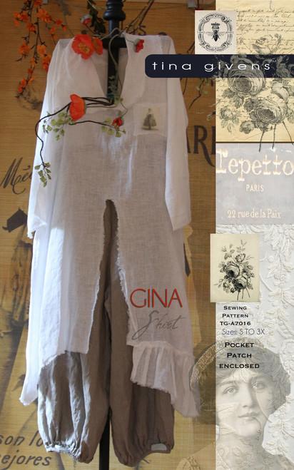 GINA SHIRT PRINT 7016