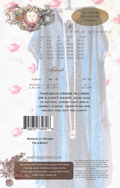 Smock-It Linen Dress PRINT TG-A6001