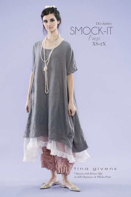 Smock-It Linen Dress  TG-P6001