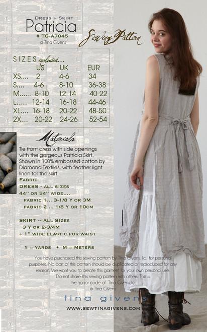 TG-P7045 Patricia dress & skirt