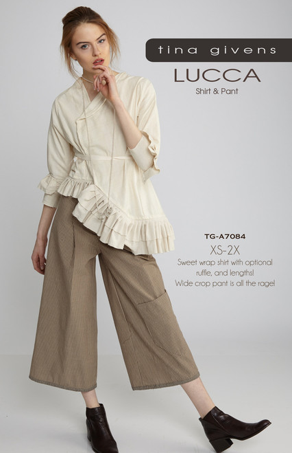TG-P7084 LUCCA JACKET SHIRT & WIDE CROP PANT