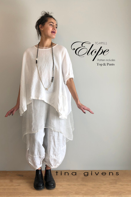 ELOPE CROP TOP AND PANTS so versatile and fun. Shown with Jaqueline Slip.
