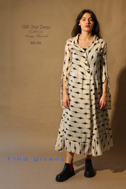 TRIP SHIRT DRESS TG-A9115