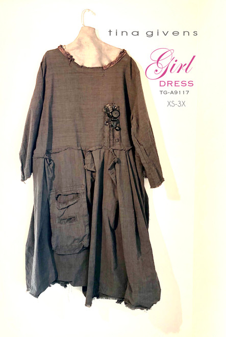 GIRL DRESS TG-A9117 PRT