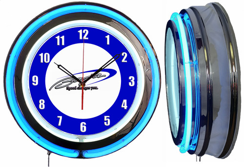 Baja Boats Sign, NEON Wall Clock BLUE Neon | Vintage Style1