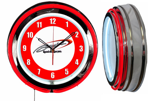 Baja Boats Sign, NEON Wall Clock RED Neon | Vintage Style1