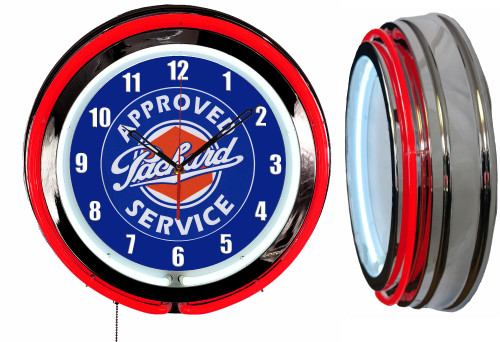 Packard Auto NEON Wall Clock RED Neon   Vintage Style