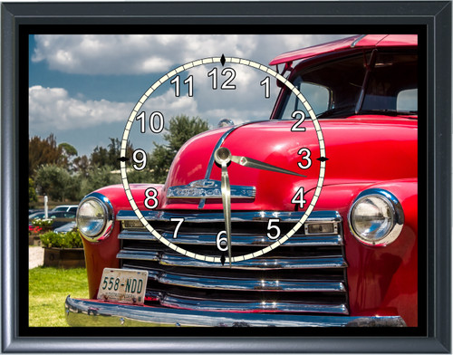 1950's Chevy Pick Up Truck Front End Desk or Wall  Clock1