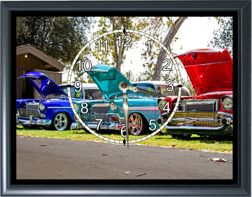 1957 1955 Chevy Bel Air Desk or Wall  Clock1