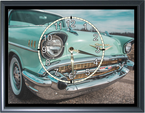 1957 Chevy Front End Grill Desk or Wall  Clock1