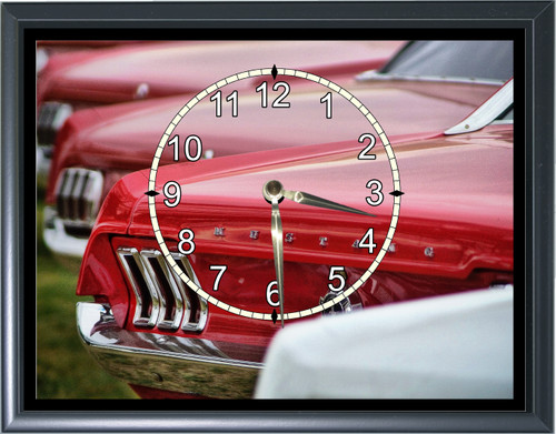 1960's Ford Mustang Taillights Desk or Wall  Clock1