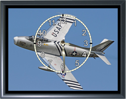 F4 Fighter Jet Desk or Wall  Clock  Picture1