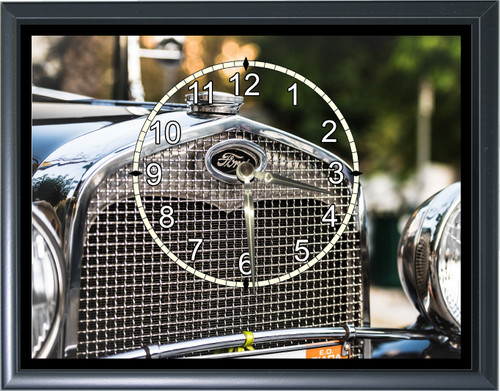 Ford Model A Grill Desk or Wall  Clock  Picture1