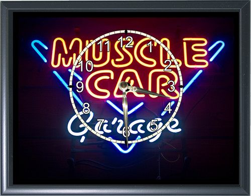 Muscle Car Garage Desk or Wall  Clock  Picture1