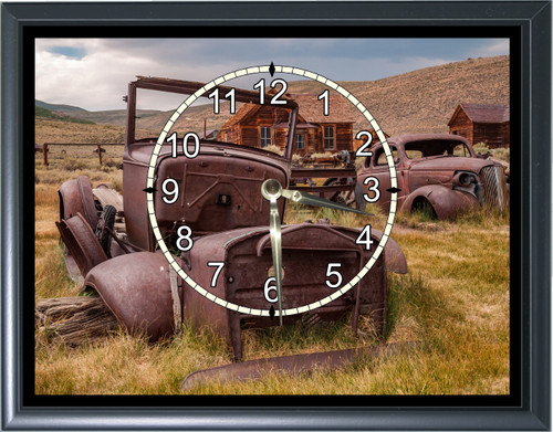 Rusted Classic Cars Desk or Wall  Clock1