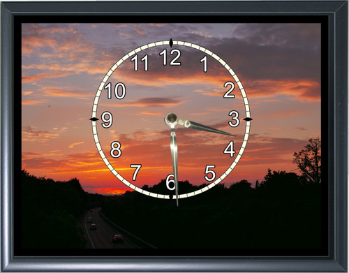 Sunset Desk or Wall  Clock  Picture1