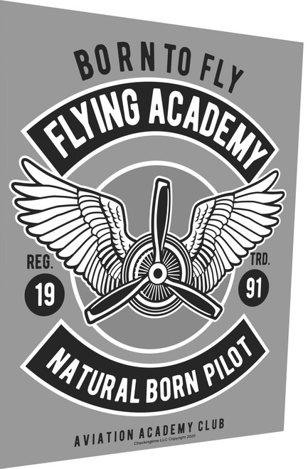 Aviation Sign Born To Fly Academy Parking Sign