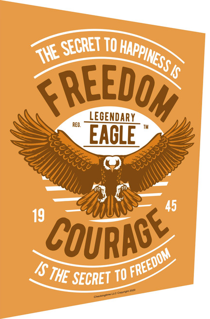Freedom and Courage Sign Parking Sign