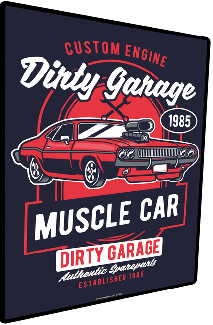 Dirty Muscle Car Sign Garage Parking Sign