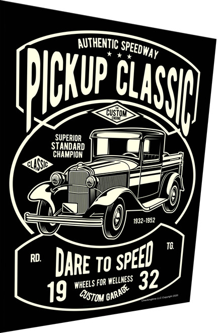 Classic Pickup Truck Sign 1932 Parking Sign