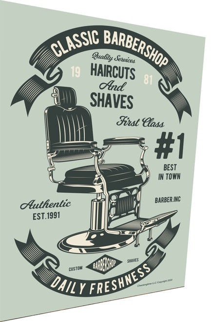 Classic Barber Shop Chair Parking Sign