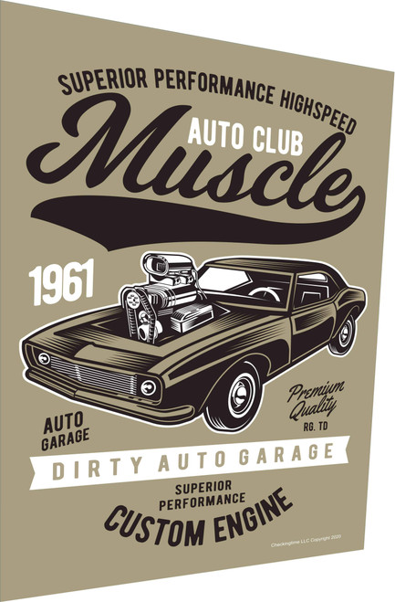 Auto Club Muscle Car 1961 Parking Sign