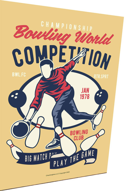Bowling World Competition Parking Sign