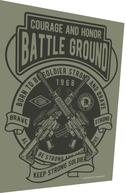 Battle Ground Military Green Parking Sign