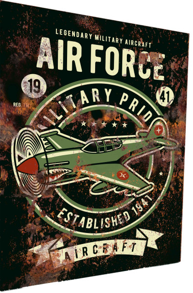 Air Force Sign 1941 Rusty Look Parking Sign